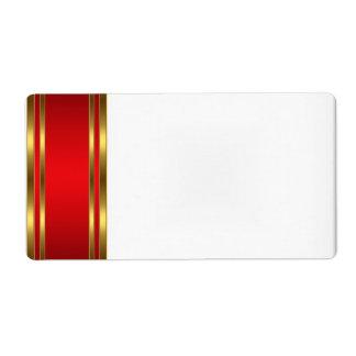パーティーの名札のラベルの金ゴールドの赤 ラベル