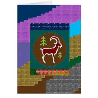 パーティーの帰りのギフト動物のカエルの蠍座のRAM グリーティングカード