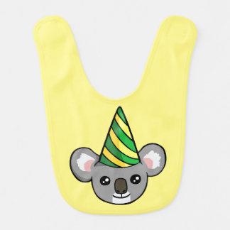 パーティーの帽子のスケッチのベビー用ビブのかわいい誕生日のコアラ ベビービブ