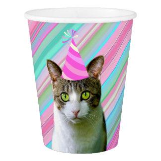 パーティーの帽子の誕生日の動物猫のようなパーティー 紙コップ