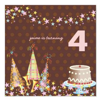 パーティーの帽子、子供の誕生会 カード
