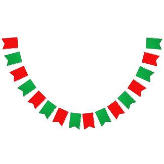 パーティーの旗布の旗の赤い緑 バンティングフラッグ