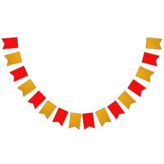 パーティーの旗布の旗の赤の金ゴールド バンティングフラッグ
