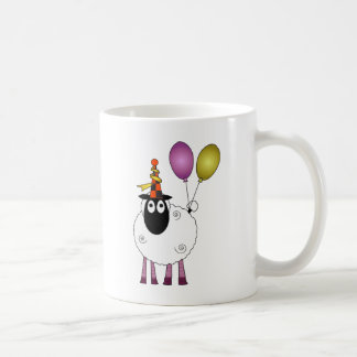 パーティーの時間のかわいいヒツジ コーヒーマグカップ