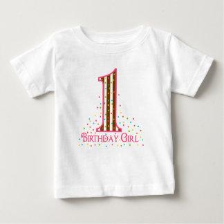 パーティーの時間は最初誕生日を振りかけます ベビーTシャツ