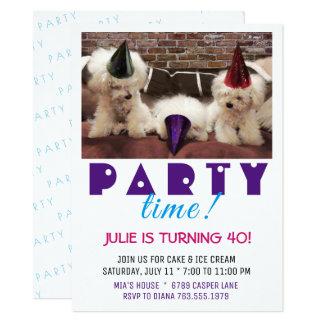 パーティーの時間招待状 カード