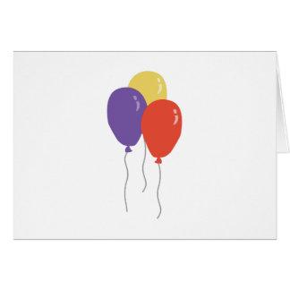 パーティーの気球 カード