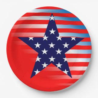 パーティーの7月愛国心が強い4日のパーティーの紙皿 ペーパープレート