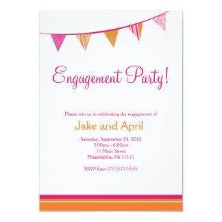 パーティーは婚約パーティ-ピンク--に印を付けます 12.7 X 17.8 インビテーションカード