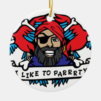 パーティー好きな人の海賊 セラミックオーナメント