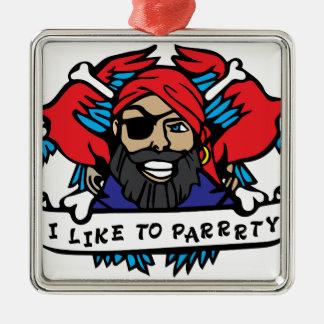 パーティー好きな人の海賊 メタルオーナメント