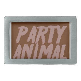 パーティー好きな人 長方形ベルトバックル