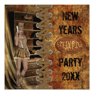 パーティー新年のSteampunkの カード