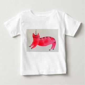 パーティー猫のベビーのTシャツ ベビーTシャツ