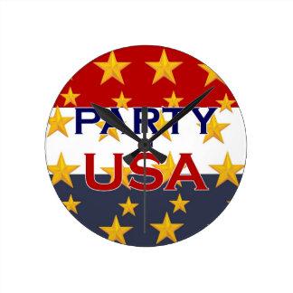 パーティー米国 ラウンド壁時計