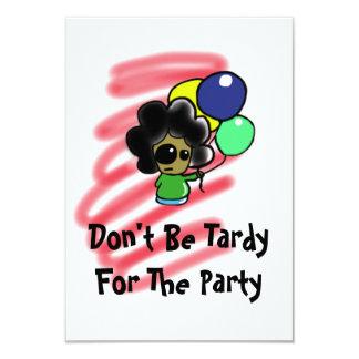 パーティーInvatationのために遅くないがあないで下さい カード
