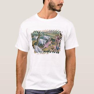 パーマによって捜されるインダス川の銀行のユニコーン Tシャツ