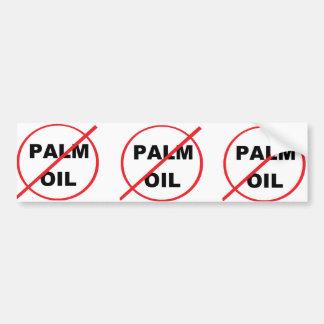 パーム油を拒否して下さい バンパーステッカー