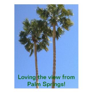 パーム・スプリングスからの眺めを愛すること! 郵便はがき ポストカード