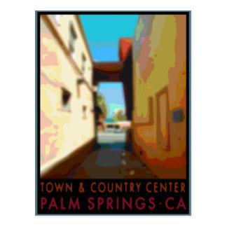 パーム・スプリングスの町及び国の中心 ポストカード