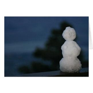 パーム・スプリングスの雪だるま カード