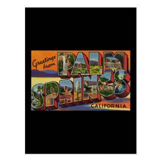 パーム・スプリングスカリフォルニアからの挨拶 ポストカード