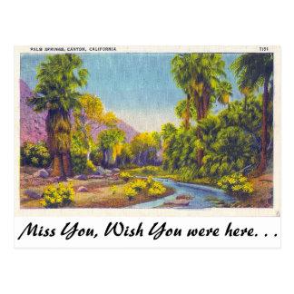 パーム・スプリングス渓谷、カリフォルニア ポストカード