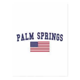 パーム・スプリングス米国の旗 ポストカード