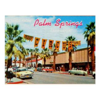 パーム・スプリングス、カリフォルニア-ヴィンテージの郵便はがき ポストカード