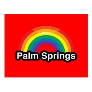 パーム・スプリングスLGBTのプライドの虹 ポストカード