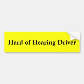 ヒアリングの運転者の懸命 バンパーステッカー
