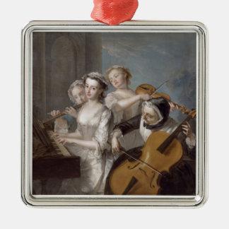 ヒアリング、c.1744-7 (キャンバスの油)の感覚 メタルオーナメント