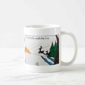 ヒイラギおよびキヅタ コーヒーマグカップ