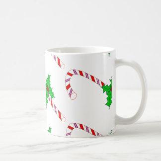 ヒイラギが付いているキャンディ・ケーン コーヒーマグカップ