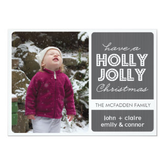 「ヒイラギすてきな」の(グラファイト)休日の写真カード カード