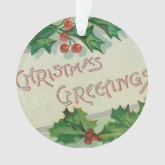ヒイラギとのクリスマスの挨拶 オーナメント