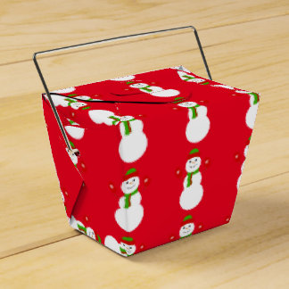 ヒイラギのすてきなクリスマスの雪だるまの好意箱 フェイバーボックス