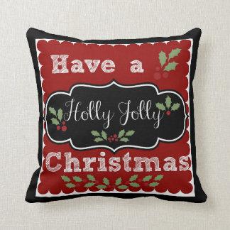 ヒイラギのすてきなクリスマスを持って下さい クッション