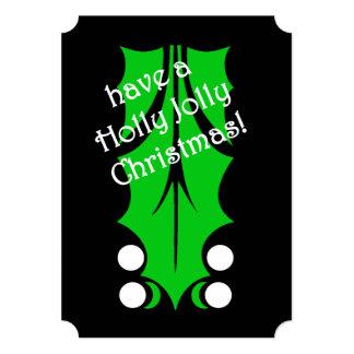ヒイラギのすてきなパーティーのクリスマスのパーティの招待状 カード