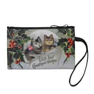 ヒイラギのクリスマスの子ネコ コインパース