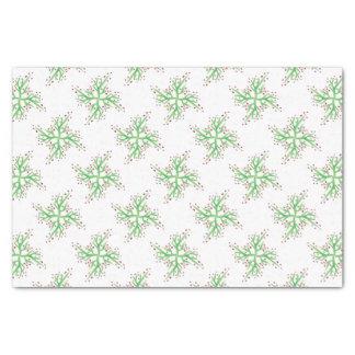ヒイラギのデザインのギフト包むこと 薄葉紙