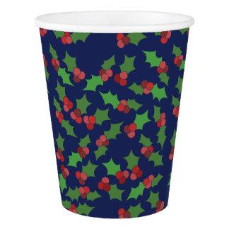 ヒイラギのフェスティバルのクリスマス 紙コップ