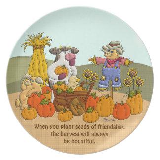 ヒイラギの友情の収穫 プレート
