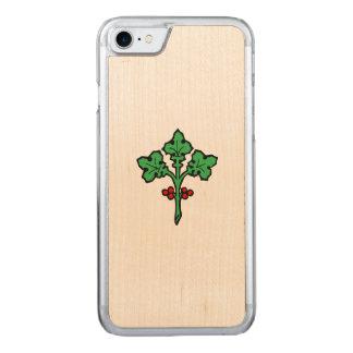 ヒイラギの古いTudorのスタイルの小枝 Carved iPhone 8/7 ケース