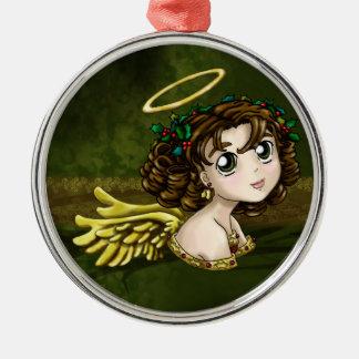 ヒイラギの天使 メタルオーナメント