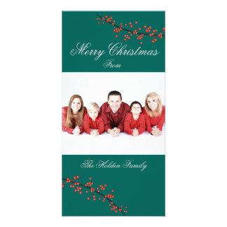 ヒイラギの果実のメリークリスマスカード カード
