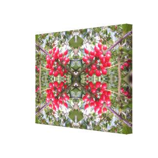 ヒイラギの水晶写真のフラクタル2 キャンバスプリント