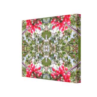 ヒイラギの水晶写真のフラクタル キャンバスプリント