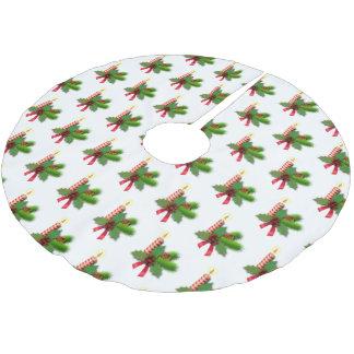 ヒイラギの葉および果実の木のスカート ブラッシュドポリエステルツリースカート
