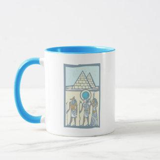 ヒエログリフのピラミッド マグカップ